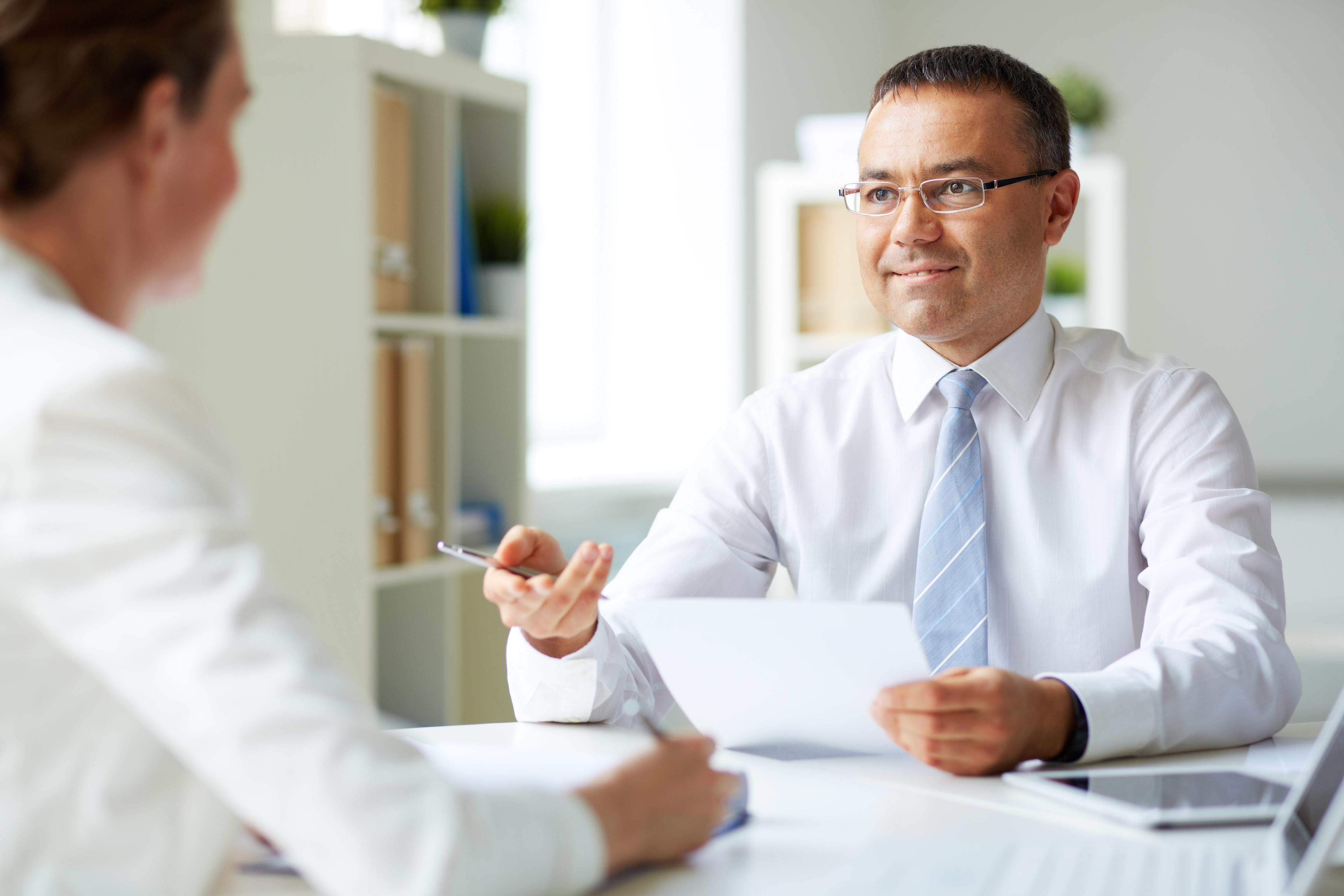 Mature secretary job interview final, sorry